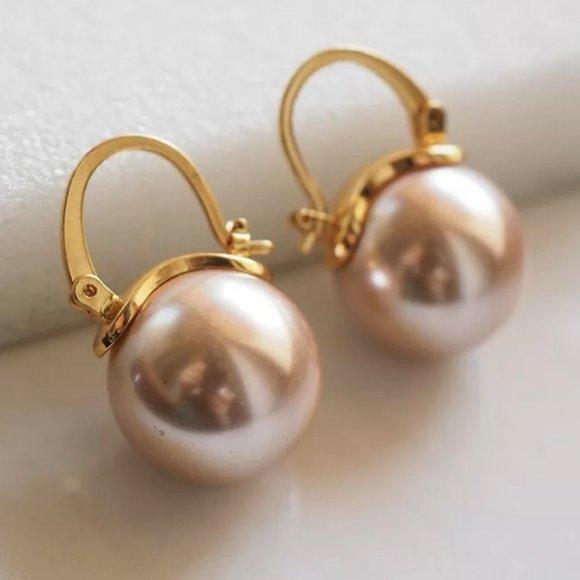 Kate Spade earrings rose gold pearl earrings
